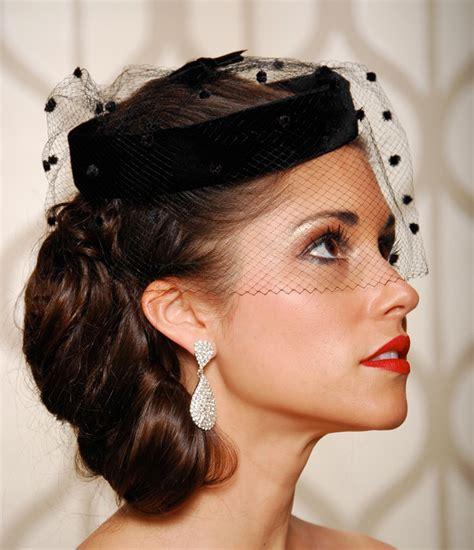pin up wedding veil birdcage veil black wedding hat bridal