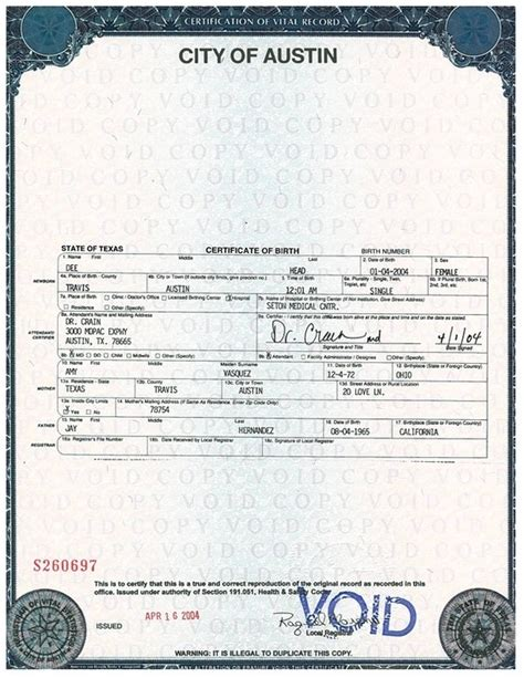 El Paso County Birth Records What Does A Birth Certificate Look Like Quora