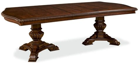 double pedestal dining room table villa cortina oval double pedestal extendable dining room