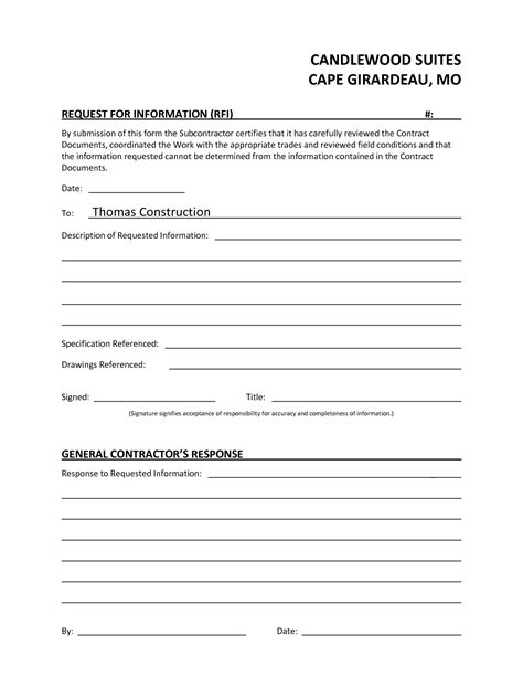 construction rfi template construction rfi document template templates resume