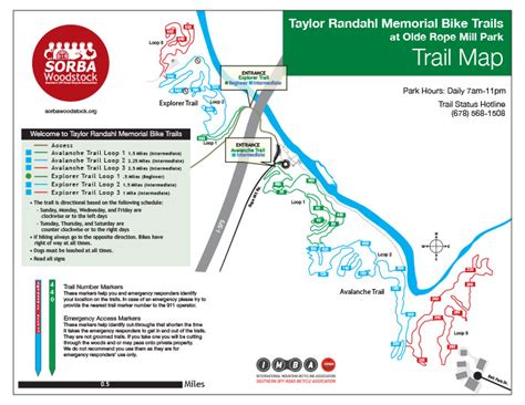 Blankets Creek Trail Map by Tandem Ramblings The Rope Mill Blankets Creek