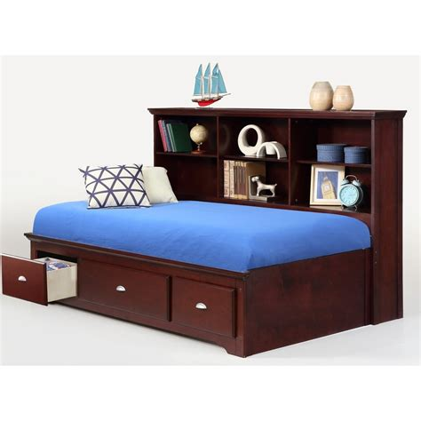 bed with bookcase footboard bernards ethan twin lounge bed with bookcase headboard