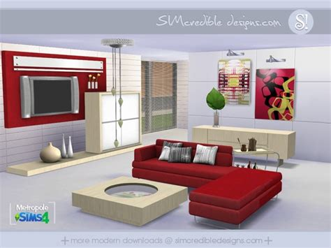 furniture by simcredible custom content metropole living room by simcredible at tsr 187 sims 4 updates