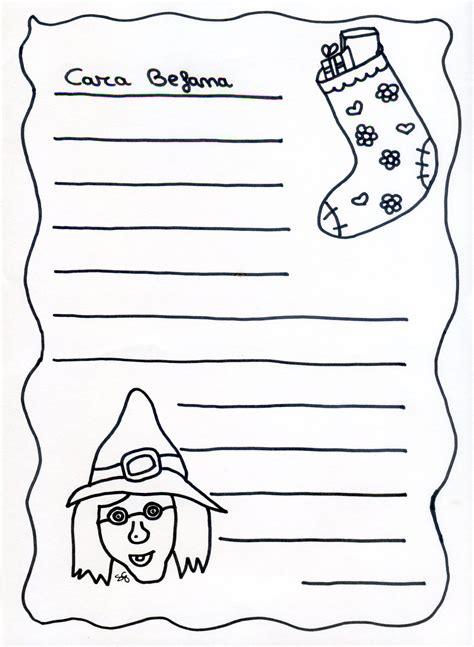 lettere per la befana letterina a babbo natale per bambini
