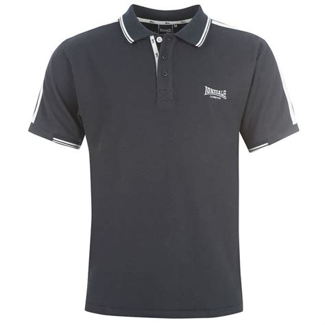 lonsdale mens clothing sleeve 2 stripe polo shirt
