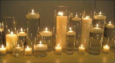 Cylinder Vases With Floating Candles And Flowers by Cylinder Vases With Mix Of Pillar Candles And Floating