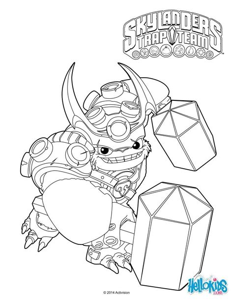 skylanders coloring pages games wallop coloring page cole s 6th birthday pinterest
