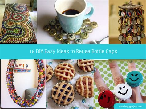 diy project 17 creative diy bottle cap art and craft ideas to reuse