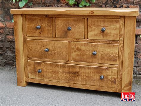 Handcrafted Pine Furniture - solid plank pine lowboy chest of drawers by incite derby