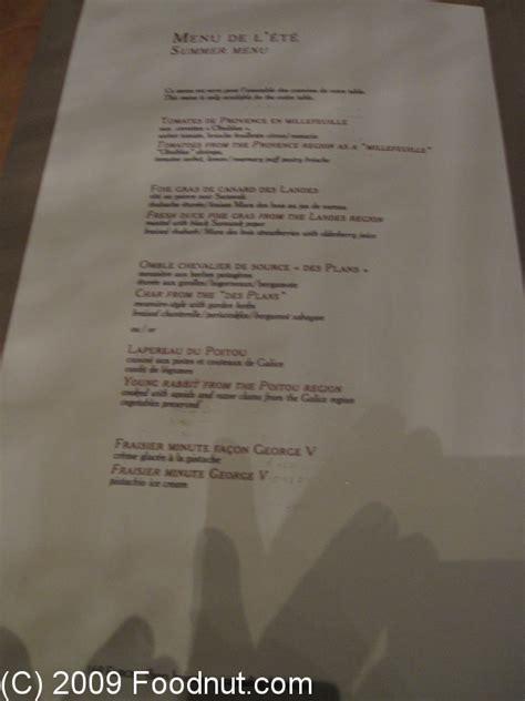Le Cinq Restaurant Review, Paris, France, Four Seasons