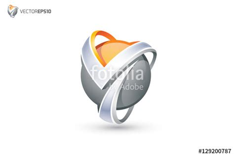 """""""Abstract Letter Y Logo - 3D Sphere Logo"""" Stock image and ... Y Logo 3d"""