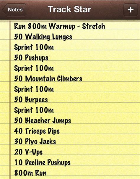 track workout via lindsays list fitness health