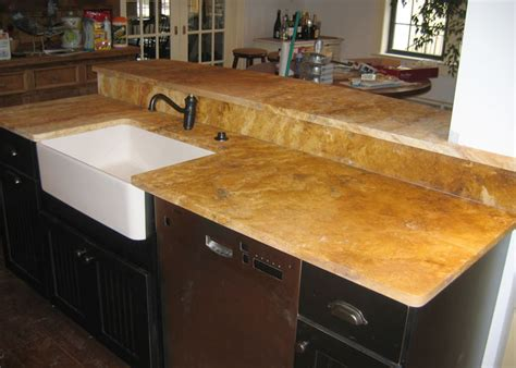 why use travertine for a bathroom counter and backsplash
