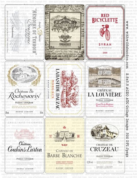 printable wine label paper 17 best images about french labels etc on pinterest