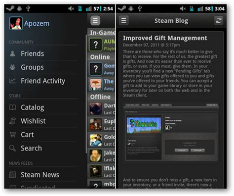 play steam on android steam comes to android ios let s you chat buy follow gaming news