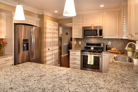 classic kitchen backsplash trend with white cabinets decor ideas new giallo napoli granite kitchen countertops white cabinets