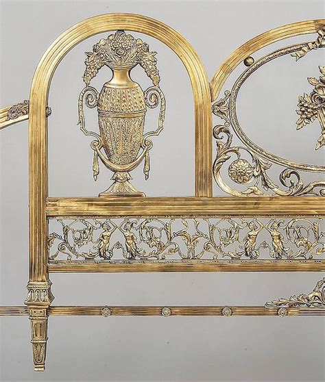 victorian style headboards victorian style brass and glass headboard at 1stdibs