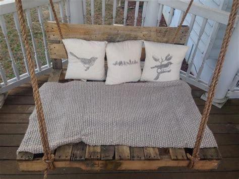 swinging pallet bed diy pallet bed porch swing pallet furniture plans