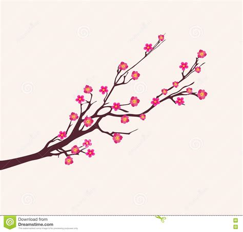 new year blossom tree vector vector cherry blossom for new year and lunar new