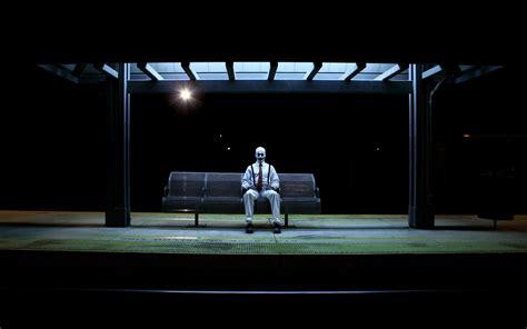 night bus film wiki wallpaper night bus stop clown bench desktop wallpaper