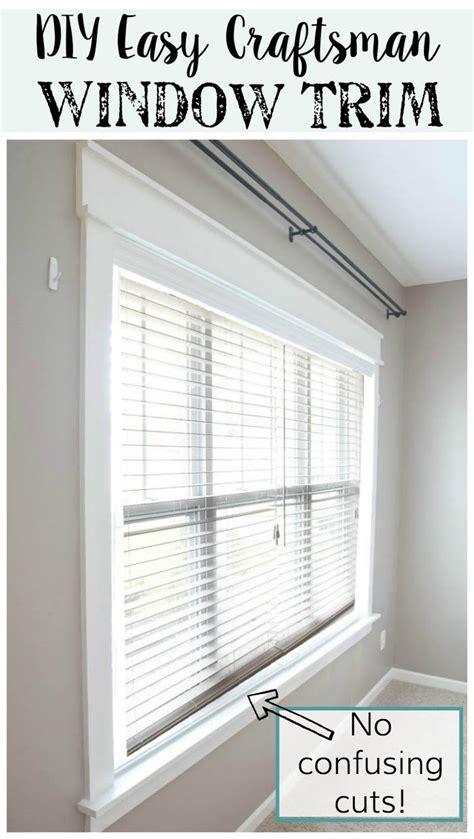 house window trim remodelaholic diy easy craftsman window trim