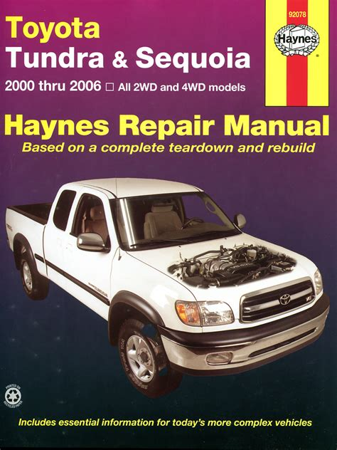 old cars and repair manuals free 2007 toyota avalon electronic throttle control toyota tundra 2wd 4wd 00 06 sequoia 01 07 haynes repair manual haynes manuals