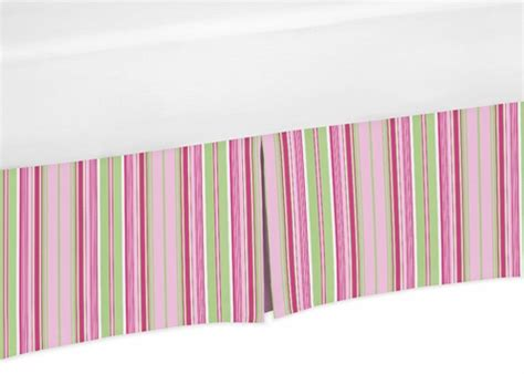 Pink And Green Crib Skirt by Pink And Green Stripe Crib Bed Skirt For Jungle Friends