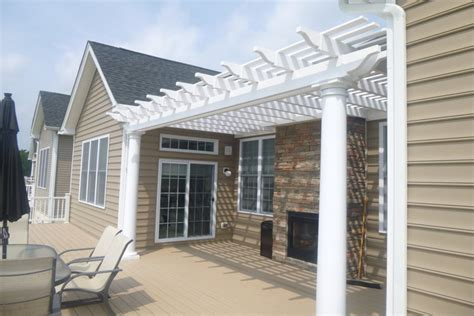 Attached Pergola Designs Quotes Attached Vinyl Pergola Kits