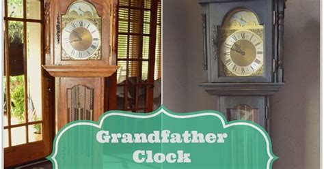 a grandfather clock makeover with sloan chalk paint in graphite from lilacs and longhorns
