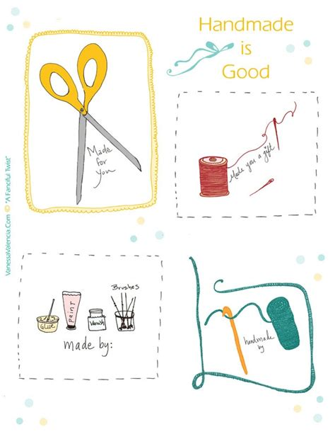 printable tags for handmade items a fanciful twist free handmade tags free printables