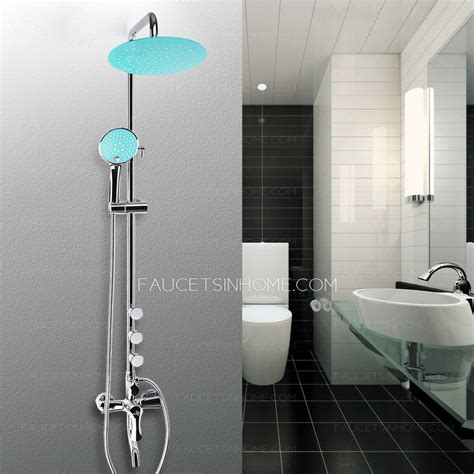 modern blue top shower painting chrome types of