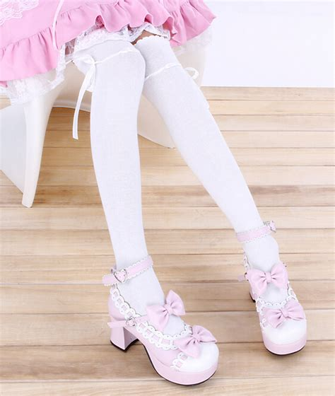 cute stockings bow stockings japanese fashion harajuku cute tight stocks