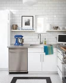 white subway tile kitchen 15 kitchens with stainless steel countertops
