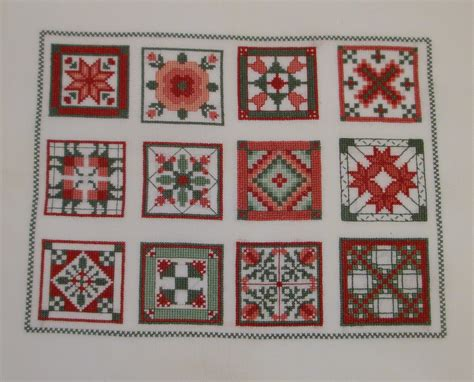 Quilt Cross Stitch by Everyday Work Favorite Quilt Squares Cross Stitch