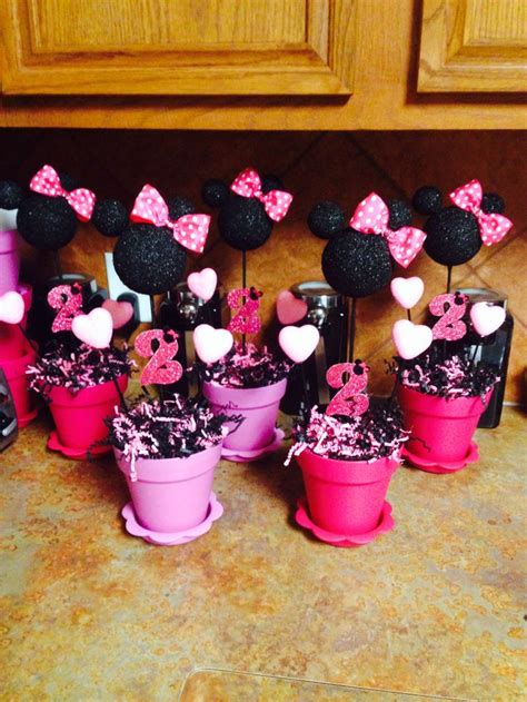 Minnie Mouse Table Decorations by Minnie Mouse Table Decorations Scarlets 3rd Birthday