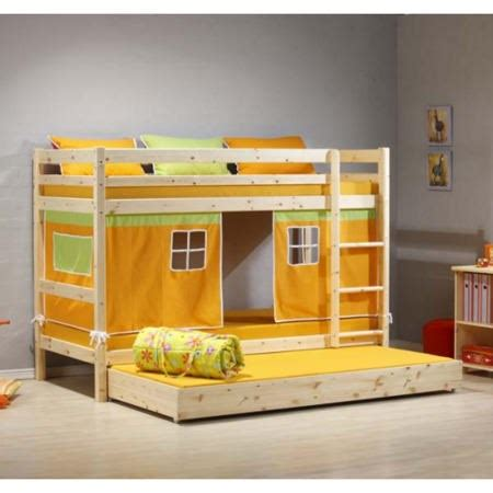 Bunk Bed With Guest Bed Thuka Minnie Solid Pine Bunk Bed With Orange Tent And Trundle Guest Bed Furniture123