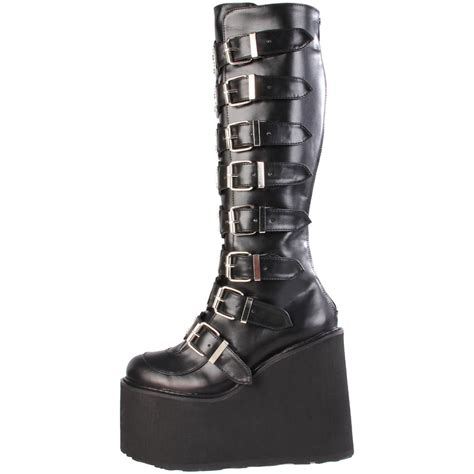 metal boots demonia swing 815 platform cyber metal