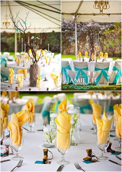 55 best Aqua, Yellow & White Wedding images on Pinterest