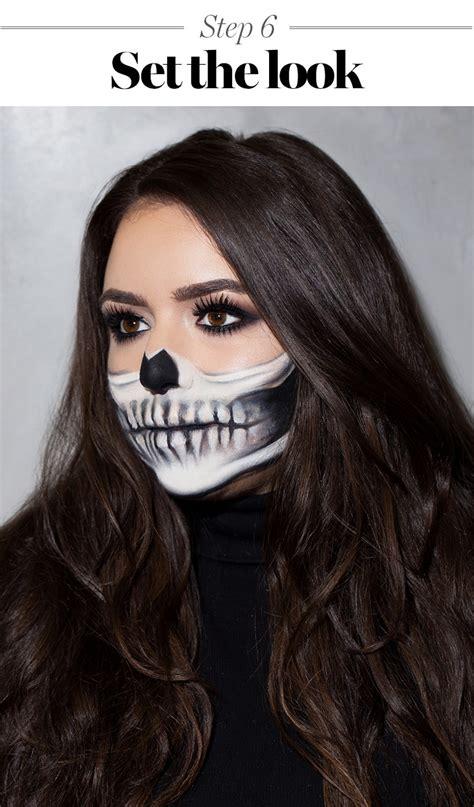 skeleton makeup tutorial halloween   prettiest