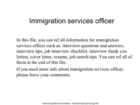 Immigration Services Officer by Immigration Services Officer