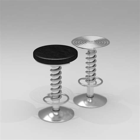 screw top bar stools 3d screw bar stool barstool model