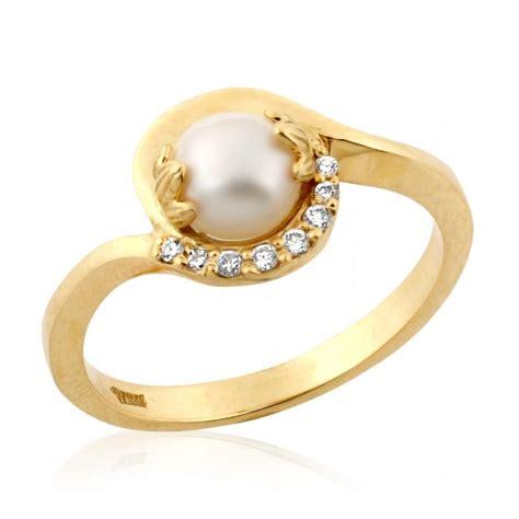 pearl engagement ring pearl ring june birthstone