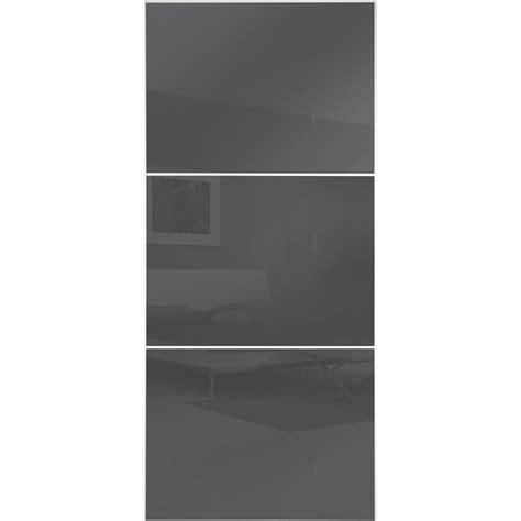 Wardrobe Doors Bunnings by Flatpax 1150mm Framed Gun Metal Grey Glass Sliding