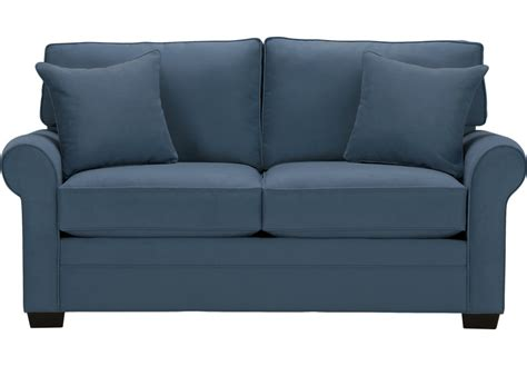 blue loveseats cindy crawford home bellingham indigo sleeper loveseat