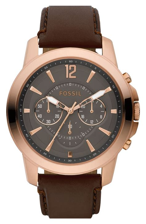 Gucci G0119 Browb Rosegold fossil chronograph in brown gold brown lyst