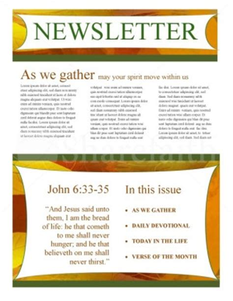 fall newsletter template design template newsletter