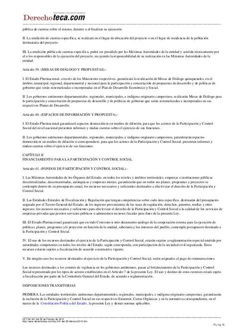 ley de participacin y control social ley n 341 ley del ley n 341 ley de participacin y control social ley 341 de