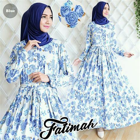 Syari Fatimah baju gamis fatimah syari grey blue elevenia