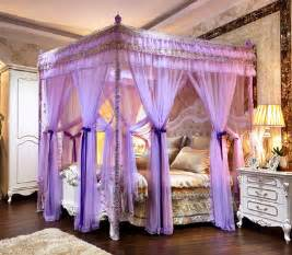 Princess Canopy Bed Curtains Luxury Mosquito Nets Palace Tent Bed Curtains Three Door