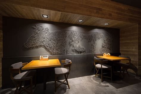cafe interior design magazine the village restaurant on behance